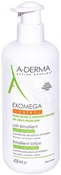 A-Derma PIERRE FABRE Exomega Control mleczko emolient przeciw drapaniu 400 ml