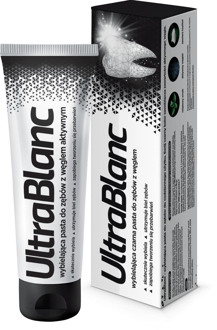 Aflofarm UltraBlanc wybielająca czarna pasta do zębów z węglem aktywnym 75 ml