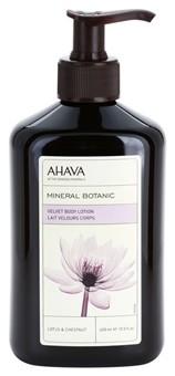 Ahava Mineral Botanic jedwabiste mleczko do ciała lotos i kasztan Paraben Free 400 ml