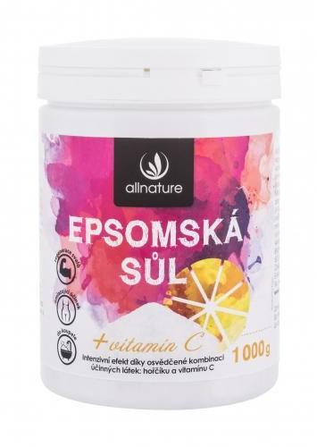 Allnature Allnature Epsom Salt Vitamin C sól do kąpieli 1000 g unisex