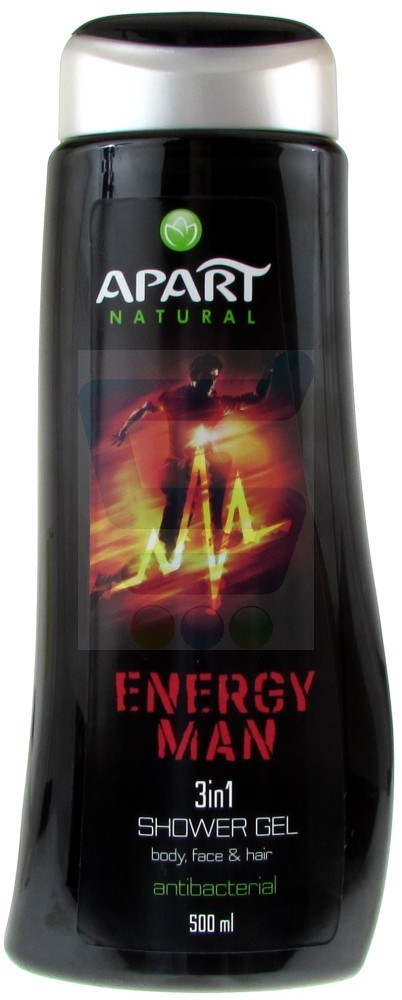 Apart Natural for Men Antybakteryjny żel pod prysznic 3w1 Energy Man 500 ml