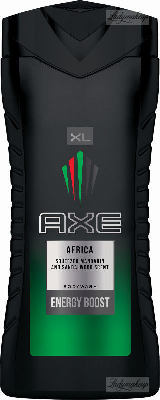 Axe AFRICA BODYWASH ENERGY BOOST - Żel pod prysznic dla mężczyzn - Mandarynka & Drzewo Sandałowe - 400 ml