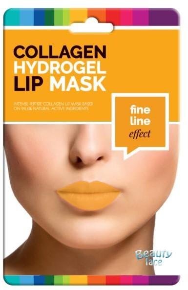Beauty Face Beauty Face Collagen Hydrogel Lip Mask przeciwzmarszczkowa kolagenowa maska na usta ze złotem