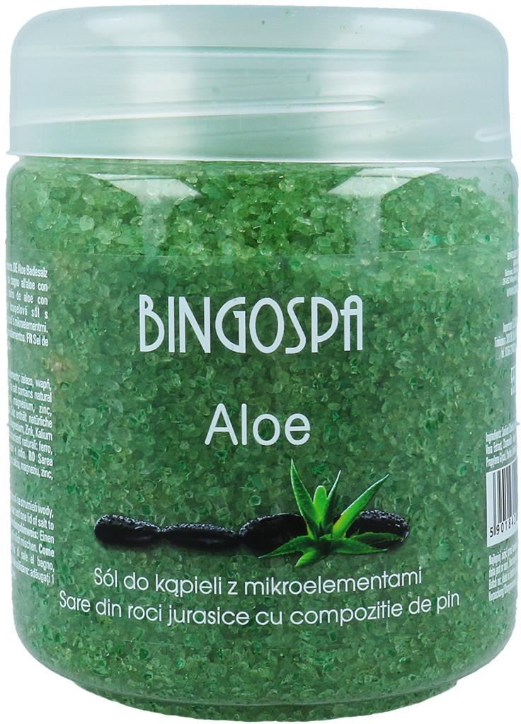 BingoSpa Aloe Sól Do Kąpieli Z Mikroelementami I Aloesem O Zapachu Sosnowego Lasu 016 550g