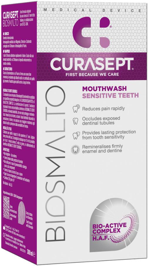 Curasept CURASEPT BIOSMALTO Sensitive Teeth 300ml - płyn do płukania ust przeciw nadwrażliwości zębowe (E892)j