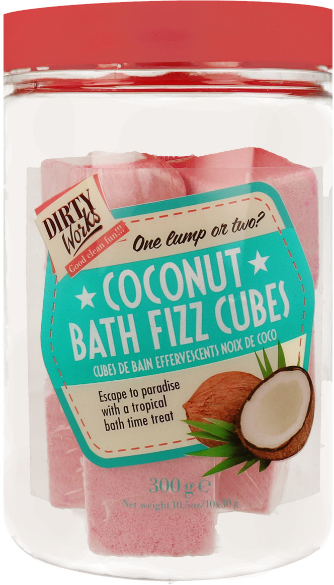 Fizz Dirty Works Dirty Works Coconut Bath Cubes Kostki Do Kąpieli 300g