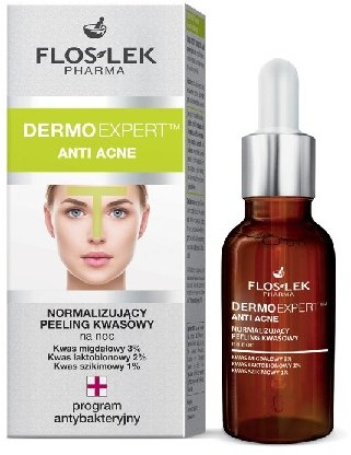 Floslek Pharma Dermo Expert Anti Acne Peeling kwasowy normalizujący na noc 30ml FLOS-LEK