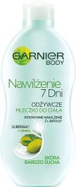 Garnier Body Nawilżenie 7 Dni Odżywcze mleczko do ciała skóra wysuszona Oliwka 400ml