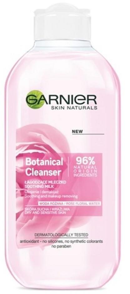 Garnier Skin Naturals, mleczko łagodzące dla skóry suchej i wrażliwej Woda Różana, 200 ml