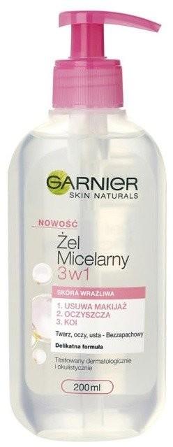 Garnier Żel micelarny 3w1 do skóry wrażliwej 200ml 44342-uniw