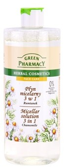 Green Pharmacy Face Care Chamomile woda micelarna 3 w 1 0% Parabens Soaps Artificial Colouring Fragrances 500 ml