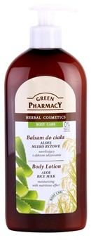 Green Pharmacy Herbal Cosmetics Body Care Balsam Do Ciała Aloes i Mleko Ryżowe 500ml