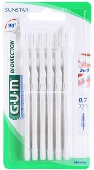 Gum Butler Bi Direction szczoteczki międzyzębowe 6 szt 0,7 mm
