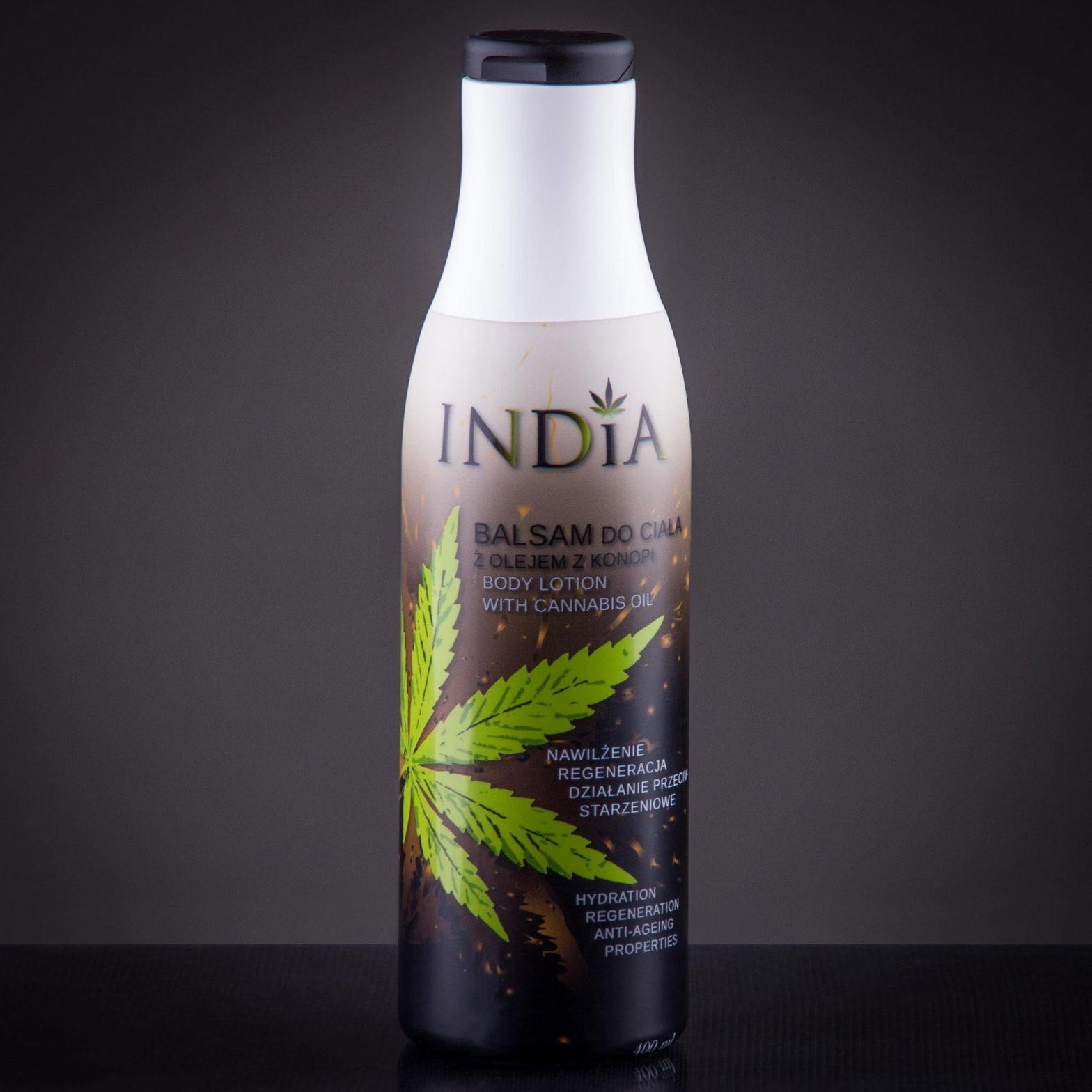 India Cosmetics Balsam konopny do ciała INDIA 400ml F7D2-62674
