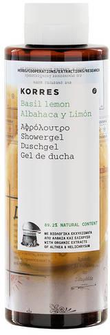 Korres Żel pod prysznic Bazylia i skórka cytryny (250 ml)