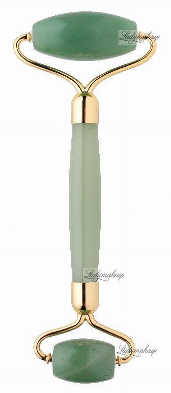 Lashbrow LashBrow - Awenturynowy roller / masażer do twarzy - Zielony Premium + SILIKONOWY POKROWIEC
