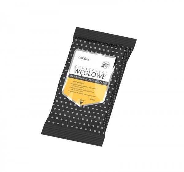 Lbiotica chusteczki węglowe do demakijażu i oczyszczania twarzy 30 sztuk 0000000