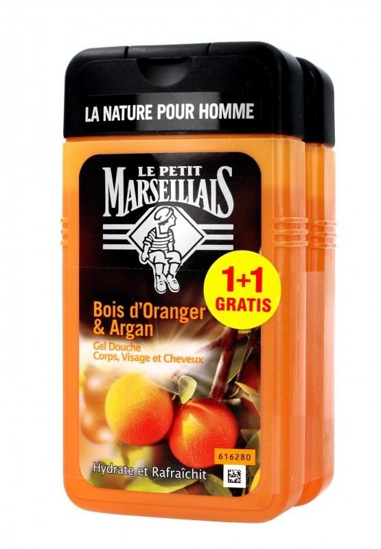 Le Petit Marseillais JOHNSON Żel pod prysznic 3w1 dla mężczyzn Drzewo Pomarańczowe & Ol.Arganowy 250mlx2