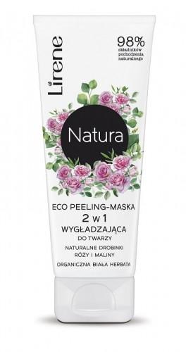 Lirene Lirene Natura Eco peeling-maska 2w1 drobinki Róży i Maliny, Biała Herbata 75ml LIR NAT-017