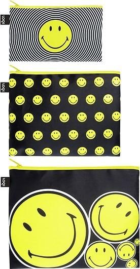 Loqi Saszetki Zip Pockets 3 szt. Smiley ZP.SM