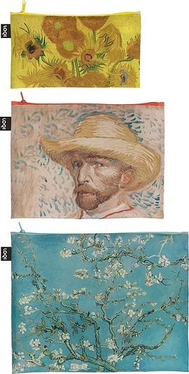 Loqi Saszetki Zip Pockets Van Gogh Museum 3 szt. ZP.MU.VM