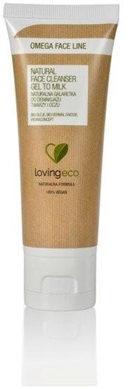 Lovingeco Lovingeco, Omega Face Line, galaretka naturalny do demakijażu twarzy i oczu, 75 ml