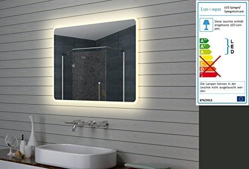 Lux-aqua designerskie lustro łazienkowe LED, podświetlane, 100 x 70 cm M15107