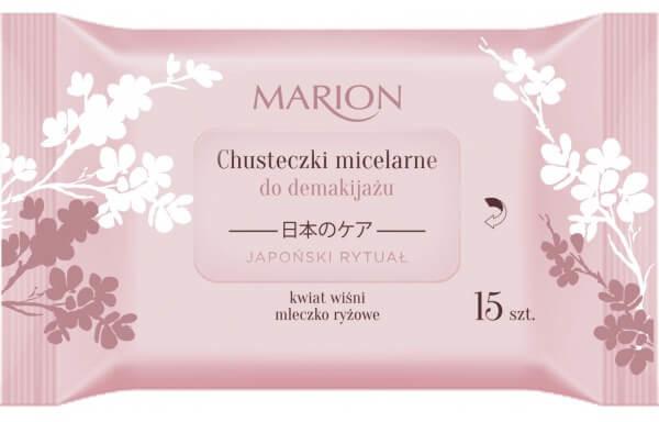 Marion Japoński Rytuał chusteczki micelarne do demakijażu twarzy oczu i szyi 15 sztuk DARMOWA DOSTAWA DO KIOSKU RUCHU OD 24,99ZŁ
