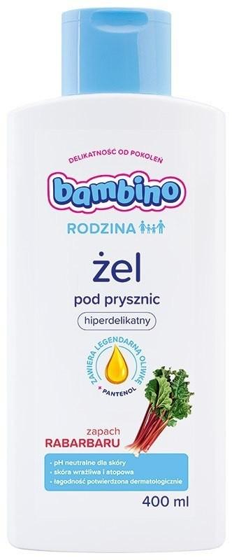 Nivea Bambino Rodzina Żel pod prysznic hiperdelikatny - zapach Rabarbaru 400ml 0184891