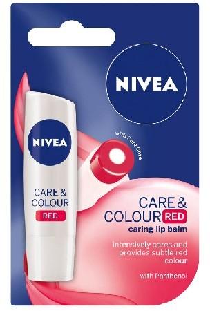 Nivea Lip Care & Color Pomadka ochronna RED 4.8g