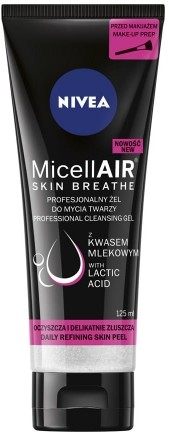 Nivea Profesjonalny żel do mycia twarzy MicellAIR SKIN BREATHE 125 ml NIV-00147