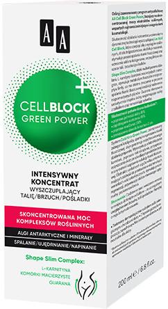 Oceanic AA Cell Block Green Power intensywny koncentrat wyszczuplający talię/brzuch/pośladki 200 ml