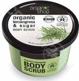 Organic Shop Peeling do ciała Trawa cytrynowa i cukier 250 ml SIBERICA