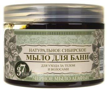 Pierwoje Reszenie Bania Agafii Czarne mydło naturalne syberyjskie 500 ml RBE22