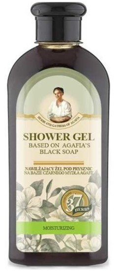 Pierwoje Reszenie Receptury Babuszki Receptury Babuszki Nawilżający żel pod prysznic na bazie czarnego mydła 350ml