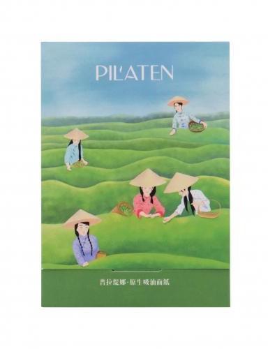 Pilaten Pilaten Native Blotting Paper Green Tea chusteczki oczyszczające 100 szt dla kobiet