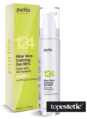 Purles 124 Aloe Vera Calming Gel 98% Kojący żel aloesowy 50 ml