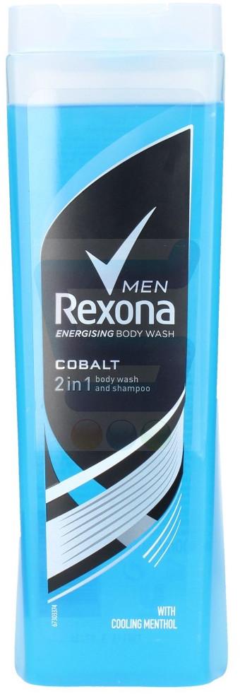 Rexona Men Żel pod prysznic 2w1 Cobalt 400 ml