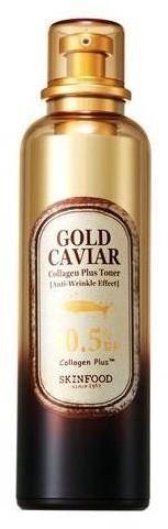 SKINFOOD Gold Caviar Collagen Plus Toner przeciwzmarszczkowy tonik do twarzy 120ml