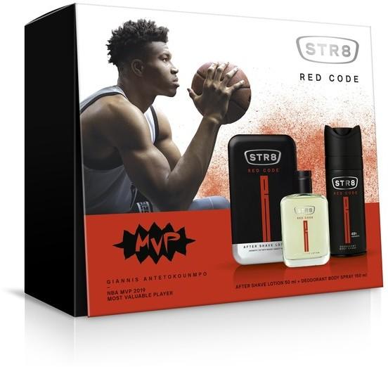 STR8 Red Code Zestaw prezentowy dezodorant spray 150ml+płyn po goleniu 50ml) 200ml
