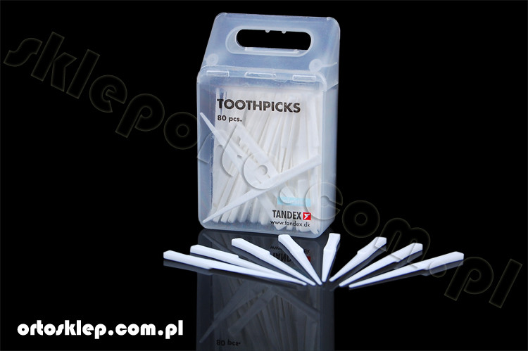 Tandex wykałaczki plastikowe - wykałaczka plastikowa ( 80 szt )