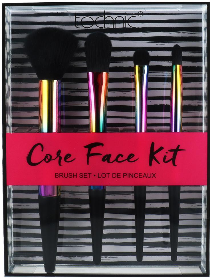 Technic Technic Core Face Kit Zestaw 4 Tęczowych Pędzli Do Makijażu Twarzy 5021769992011