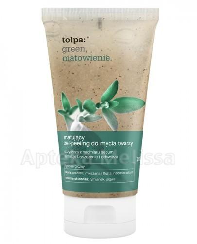 Tołpa GREEN Matujący żel-peeling do mycia twarzy - 150 ml