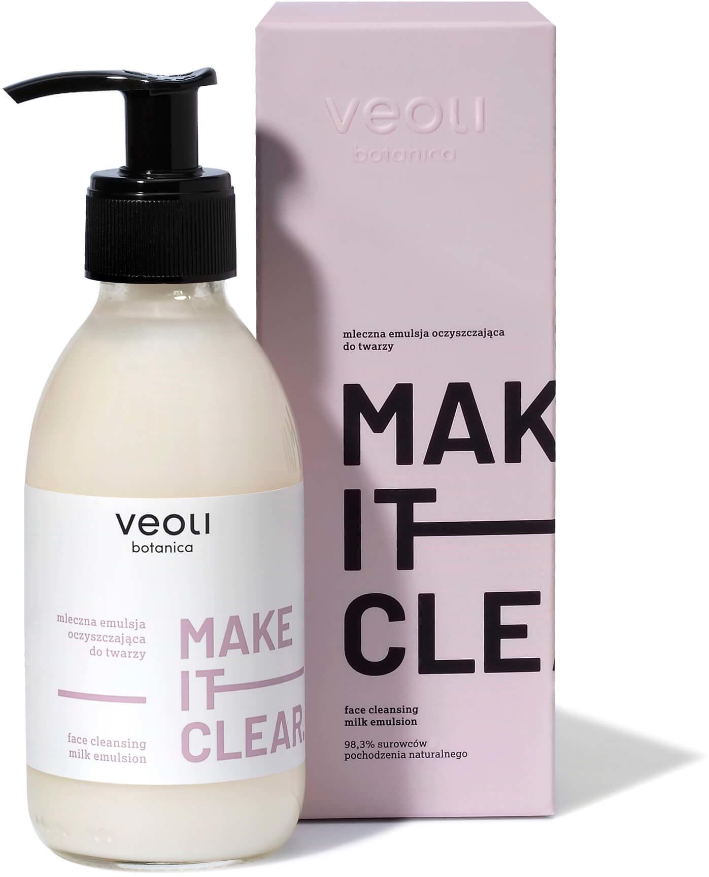 Veoli Botanica Veoli Botanica Make It Clear Mleczna emulsja oczyszczajaca do twarzy 200 ml