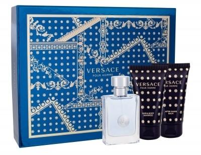 Versace Pour Homme zestaw Edt 50ml + 50ml Żel pod prysznic + 50ml Balsam po goleniu dla mężczyzn