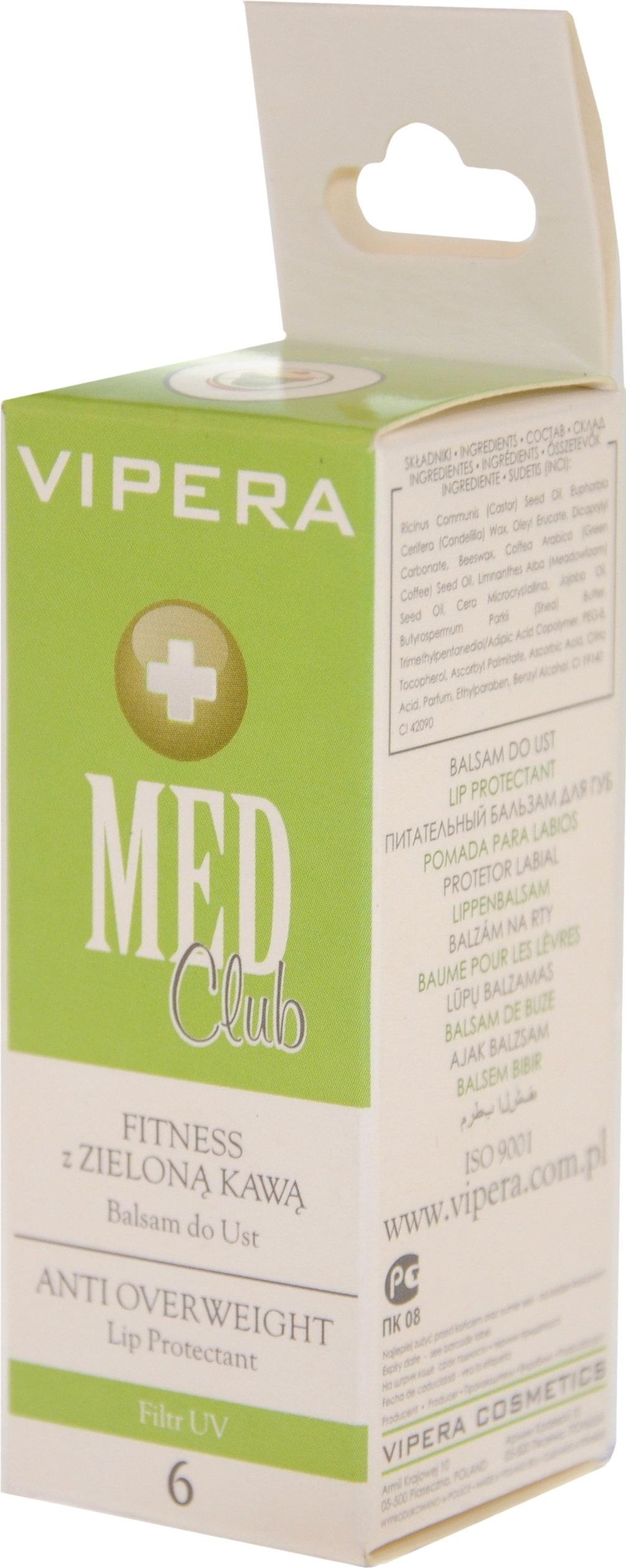 Vipera Med Club balsam do ust FITNESS Z ZIELONĄ KAWĄ 6
