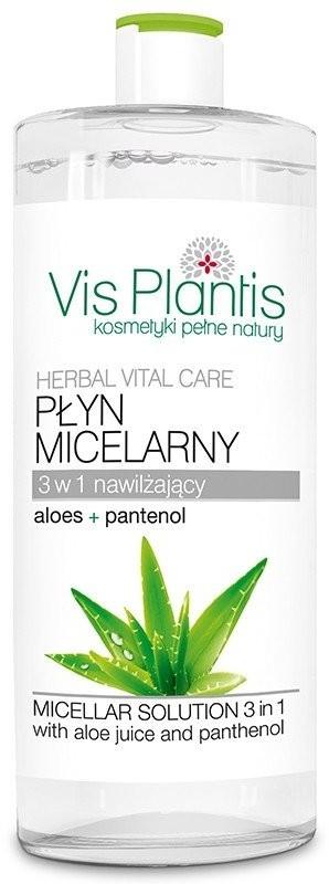 Vis Plantis Płyn micelarny 3 w 1 z sokiem z aloesu i pantenolem, 500 ML