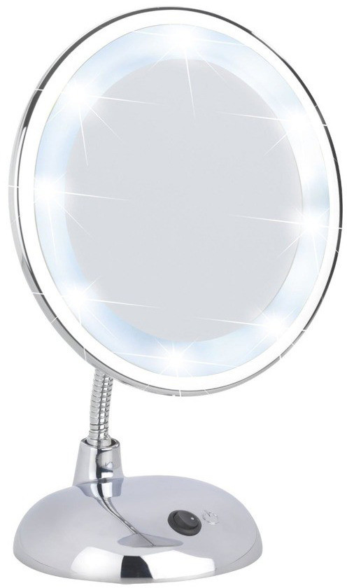 WENKO Lusterko kosmetyczne STYLE z podświetnielniem LED powiększenie x3