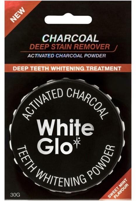 White Glo CHARCOAL TEETH WHITENING POWDER AKTYWNY WĘGIEL W PROSZKU DO WYBIELANIA ZĘBÓW 30G.