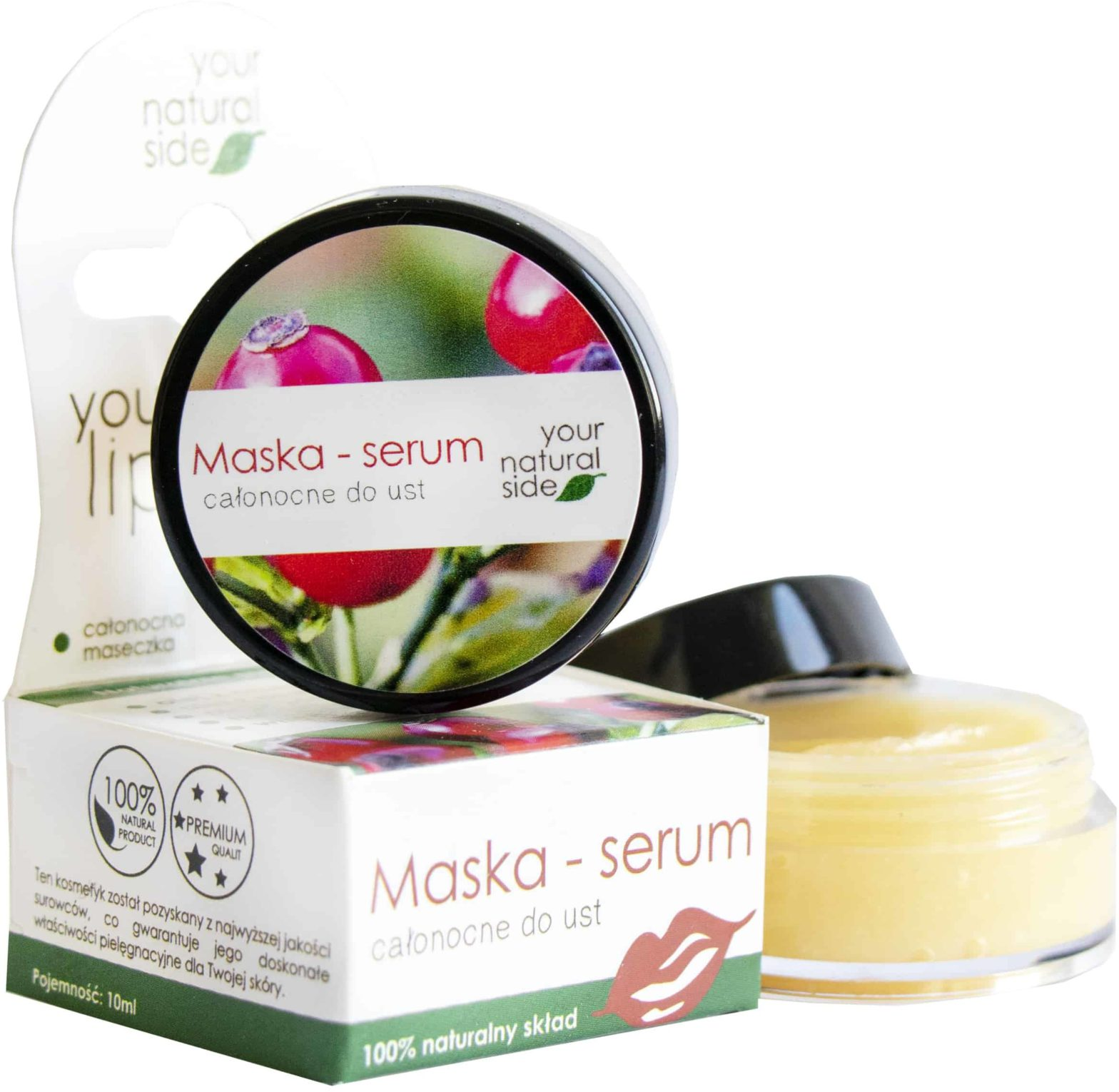 YOUR NATURAL SIDE Maska  serum całonocne do ust 10ml Your Natural Side